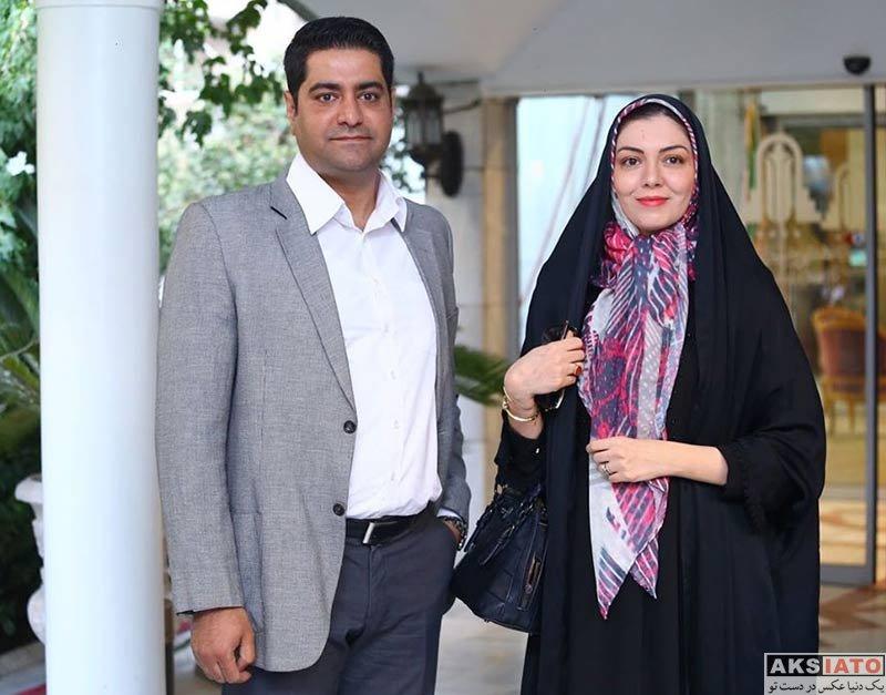 خانوادگی مجریان  آزاده نامداری و همسرش در دومین دوره جایزه آکادمی سینما سینما (۴ عکس)