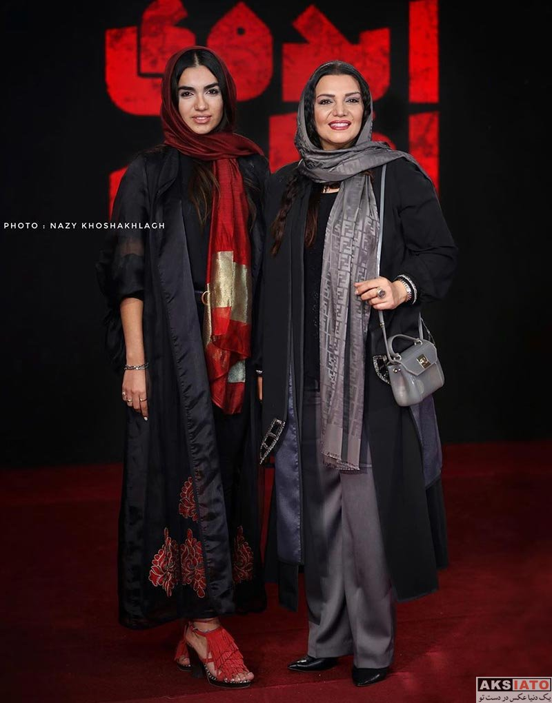 بازیگران بازیگران زن ایرانی  الهام پاوه نژاد و دخترش در اکران خصوصی فیلم ایده اصلی (4 عکس)