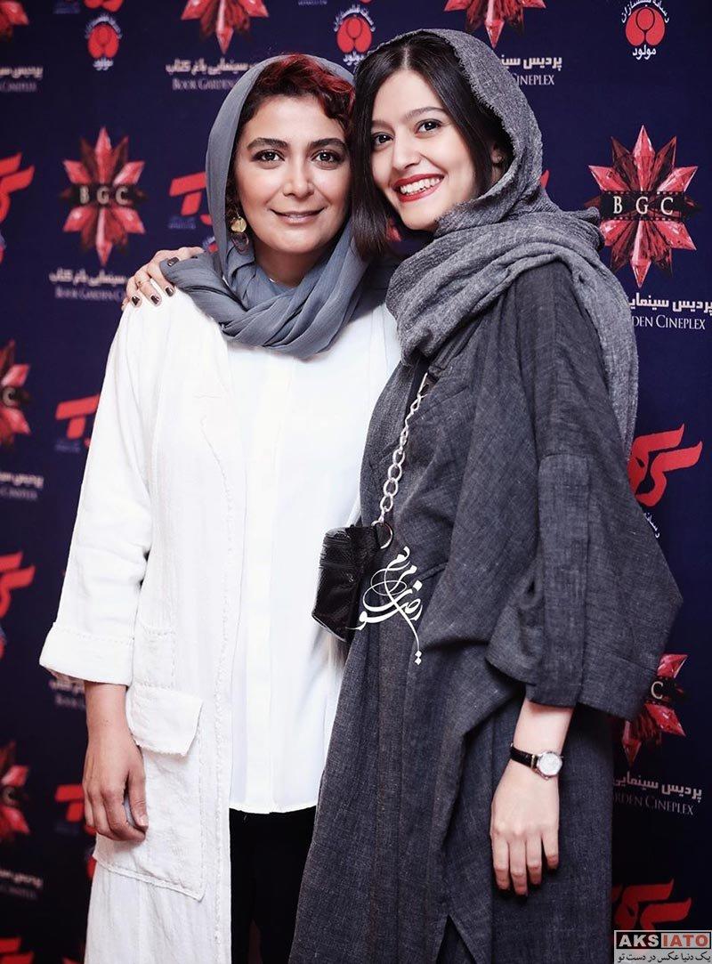 بازیگران بازیگران زن ایرانی  پردیس احمدیه و دیگر بازیگران در اکران مردمی فیلم سرکوب (4 عکس)