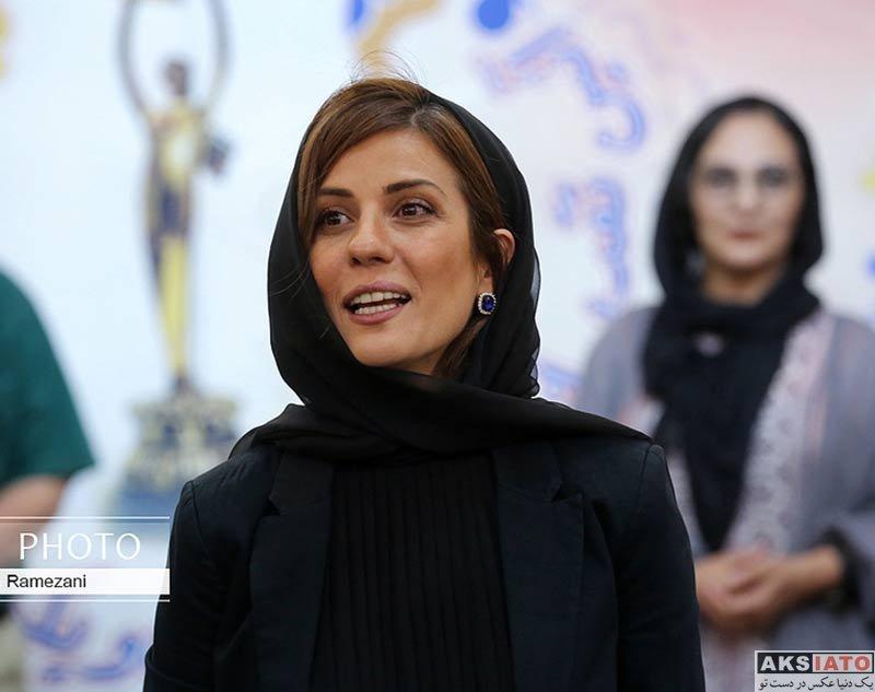 بازیگران بازیگران زن ایرانی  سارا بهرامی در آیین تقدیر از نامزدهای 21مین جشن خانه سینما (4 عکس)