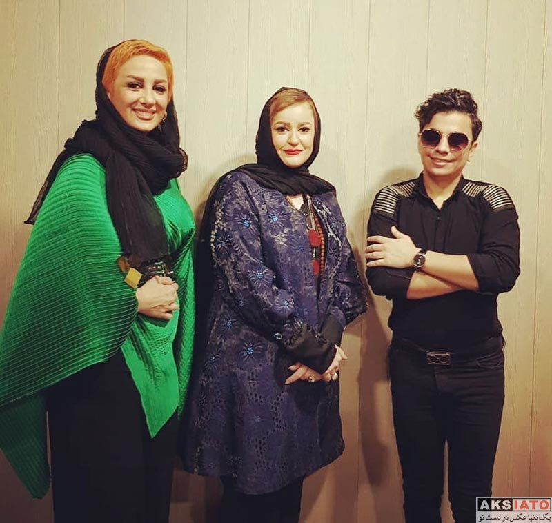 خوانندگان  محسن ابراهیم زاده در کنار خانم بازیگر (4 عکس)