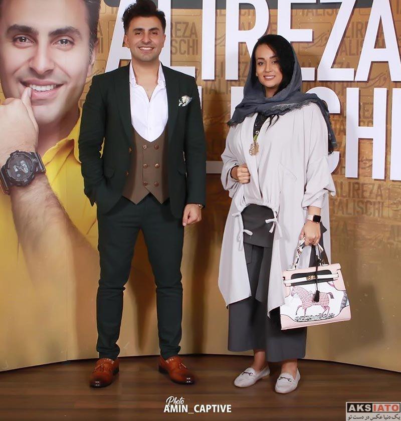 خوانندگان  علیرضا طلیسچی در کنار چند خانم بازیگر (4 عکس)