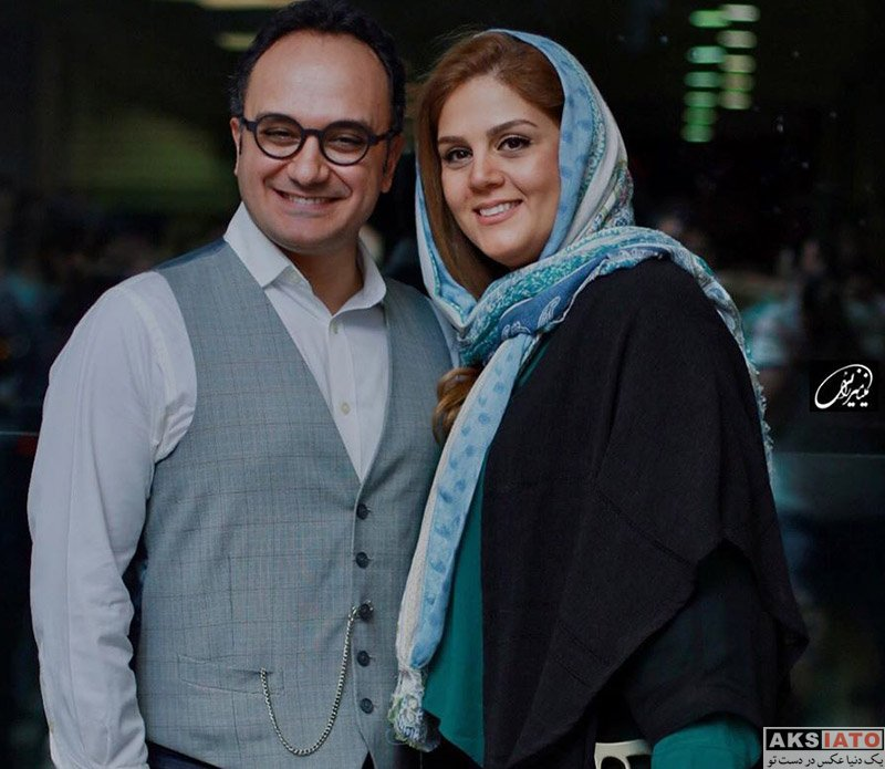 خانوادگی مجریان  احسان کرمی و همسرش در اکران مردمی فیلم کروکودیل (۳ عکس)