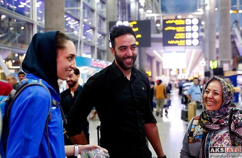 ورزشکاران ورزشکاران زن  کیمیا علیزاده در مراسم استقبال در قهرمانان تکواندو (4 عکس)