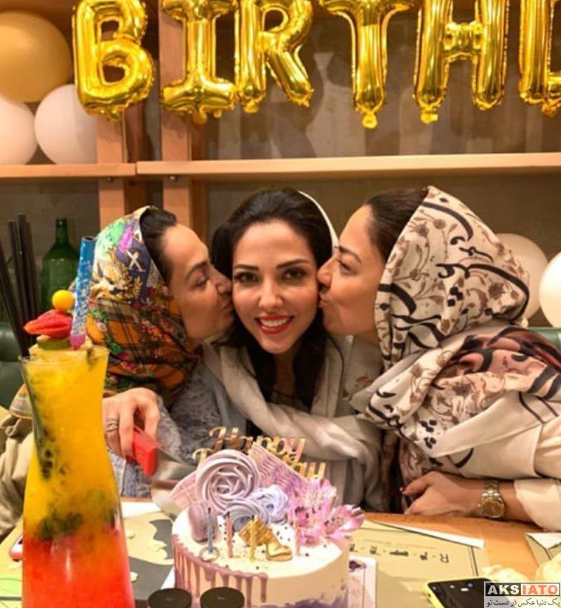 بازیگران جشن تولد ها  جشن تولد 36 سالگی لیلا اوتادی در مرداد 98 ( عکس)