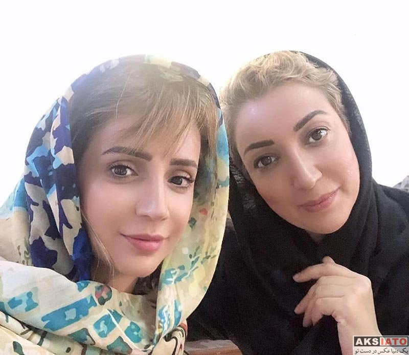 بازیگران بازیگران زن ایرانی  نگار عابدی در پشت صحنه سریال بیگانه ای با من است (3 عکس)
