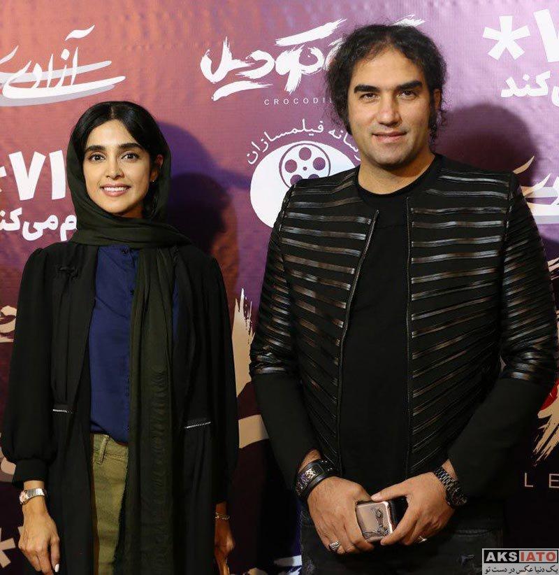 بازیگران  رضا یزدانی در اکران مردمی فیلم سینمایی کروکودیل (2 عکس)