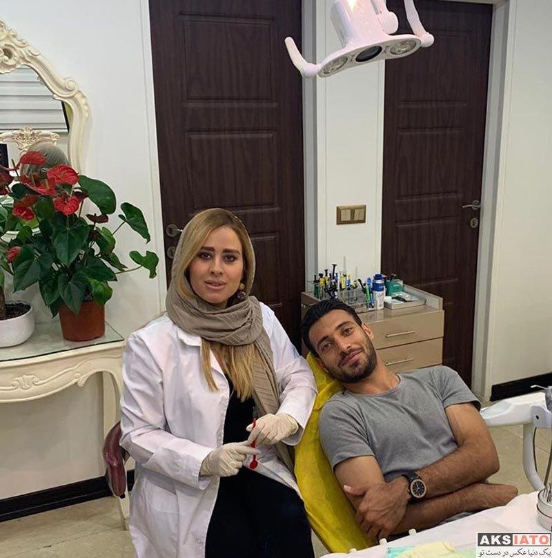ورزشکاران ورزشکاران مرد  شجاع خلیل زاده در مطب خانم دندانپزشک (2 عکس)