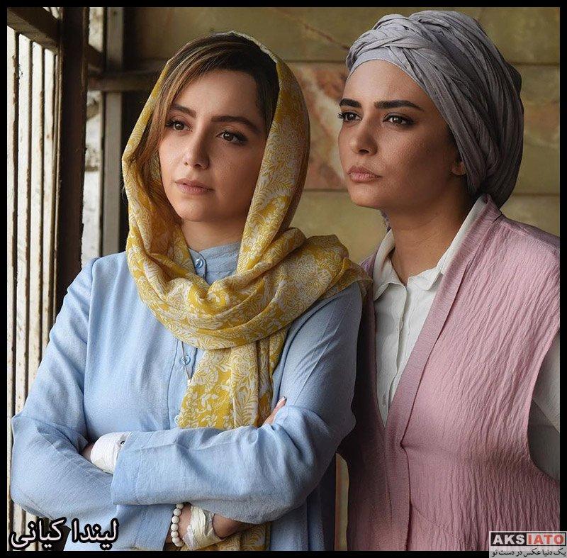 بازیگران بازیگران زن ایرانی  لیندا کیانی در پشت صحنه سریال مانکن (۶ عکس)