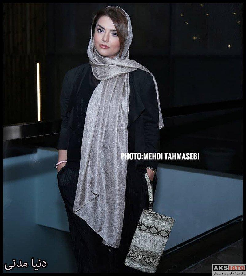 بازیگران بازیگران زن ایرانی  دنیا مدنی در اکران خصوصی فیلم شاه کش (4 عکس)
