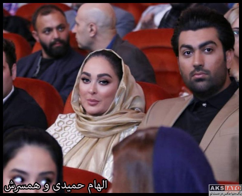 خانوادگی  الهام حمیدی و همسرش در اکران خصوصی فیلم مسخره باز (۳ عکس)