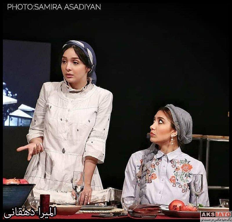 بازیگران بازیگران زن ایرانی  المیرا دهقانی در نمایش نیمه تاریک ماه (۶ عکس)