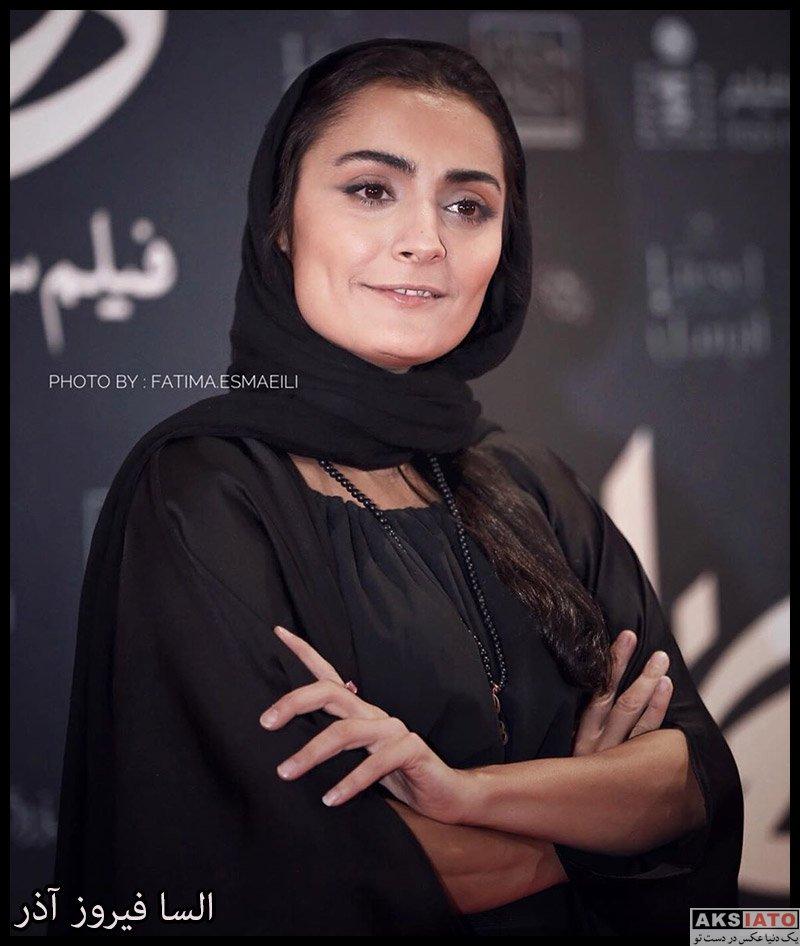 بازیگران بازیگران زن ایرانی  السا فیروز آذر در اکران خصوصی فیلم هزارتو (۴ عکس)