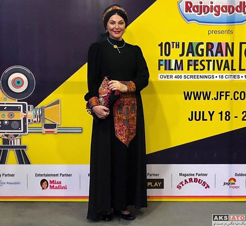 بازیگران بازیگران زن ایرانی  لاله اسکندری در دهمین جشنواره فیلم جاگران دهلی (4 عکس)