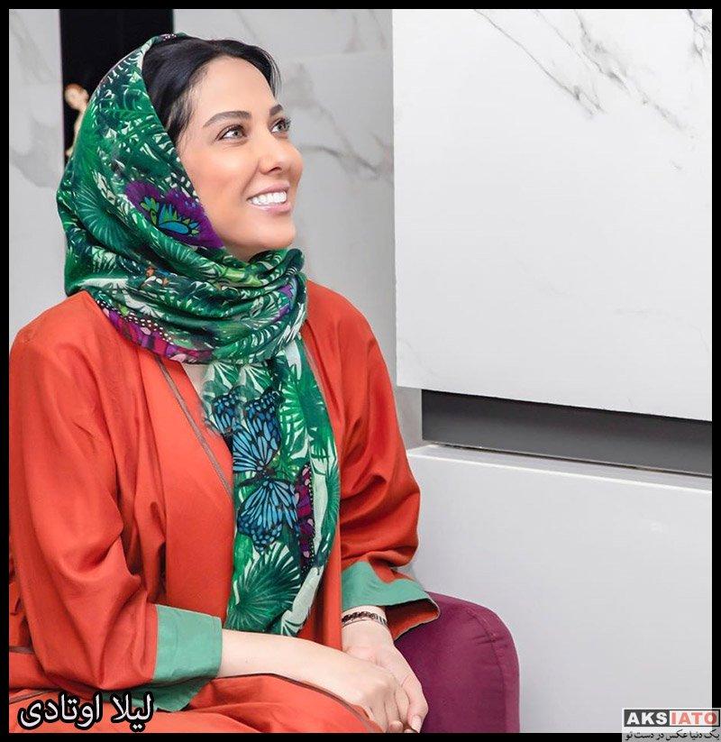 بازیگران بازیگران زن ایرانی  لیلا اوتادی در افتتاحیه سالن زیبایی نیکی آرمانی (3 عکس)