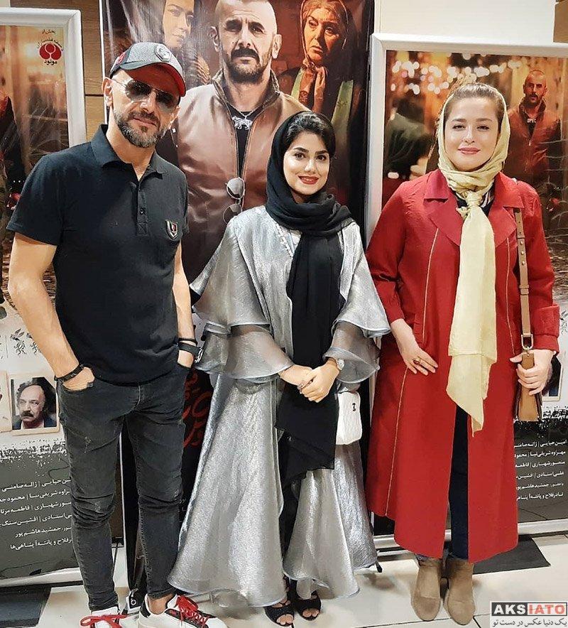 بازیگران بازیگران زن ایرانی  مهراوه شریفی نیا و امین حیایی در اکران مردمی فیلم درخونگاه (4 عکس)