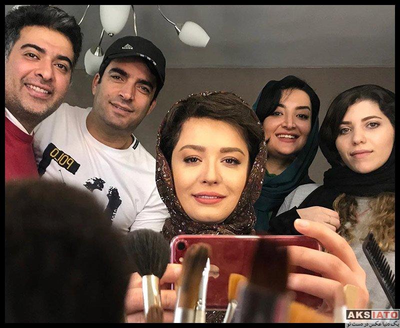 بازیگران بازیگران زن ایرانی  مهراوه شریفی نیا در پشت صحنه سریال دل (4 عکس)