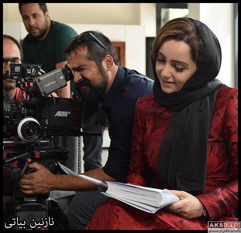 بازیگران بازیگران زن ایرانی  نازنین بیاتی در پشت صحنه سریال مانکن (6 عکس)