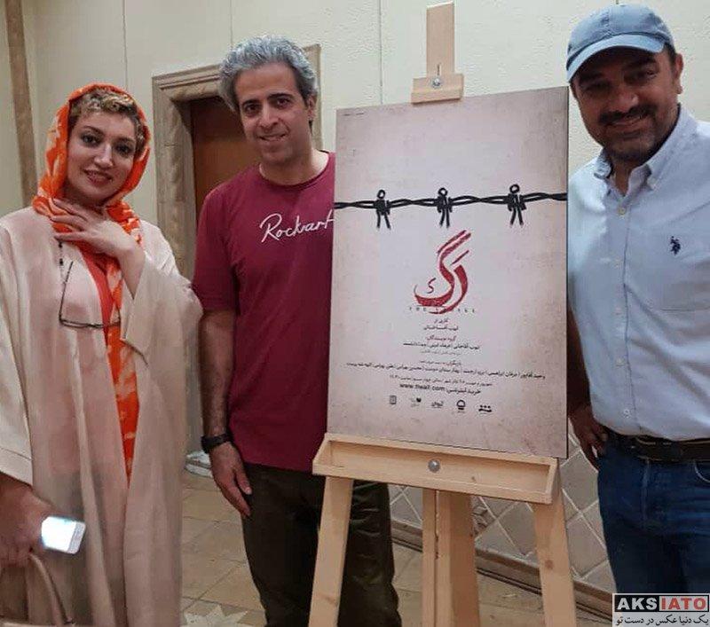 بازیگران بازیگران زن ایرانی  نگار عابدی در اجرای نمایش رگ (2 عکس)