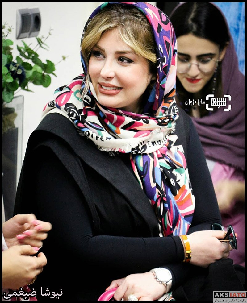 بازیگران بازیگران زن ایرانی  نیوشا ضیغمی در افتتاحیه فروشگاه چرم ایلوک (۳ عکس)