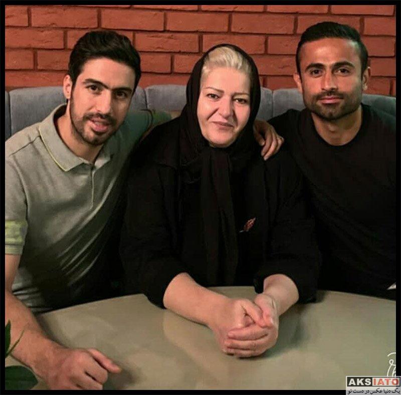 امید ابراهیمی و همسرش افتتاحیه رستوران خسرو حیدری (۲ عکس) - عکسیاتو
