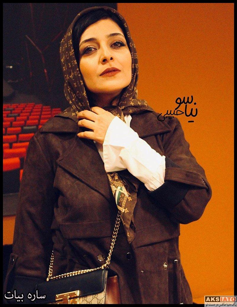 بازیگران بازیگران زن ایرانی  ساره بیات در اکران مردمی فیلم سینمایی هزارتو (6 عکس)