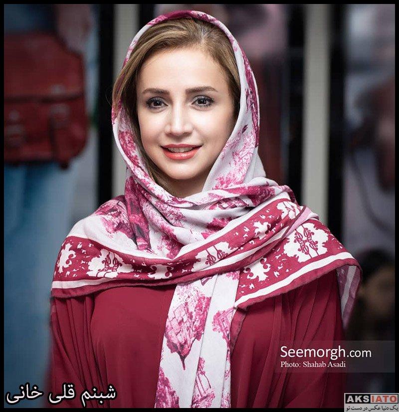 بازیگران بازیگران زن ایرانی  شبنم قلی خانی در افتتاحیه فروشگاه چرم ایلوک (3 عکس)