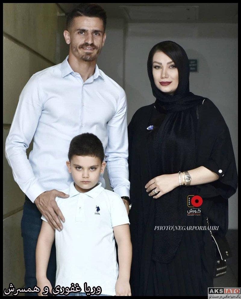 خانوادگی ورزشکاران مرد  وریا غفوری و همسرش در کران فیلم آبی به رنگ آسمان (3 عکس)