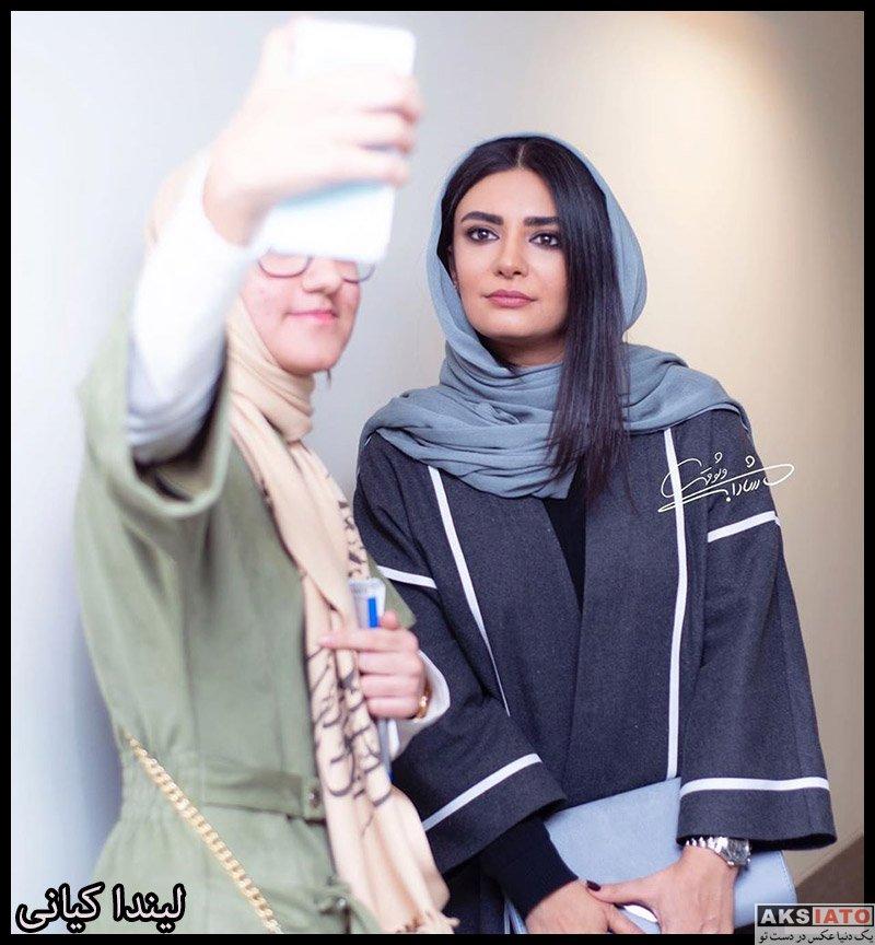 بازیگران بازیگران زن ایرانی  لیندا کیانی در اولین اکران مردمی فیلم چشم و گوش بسته (4 عکس)