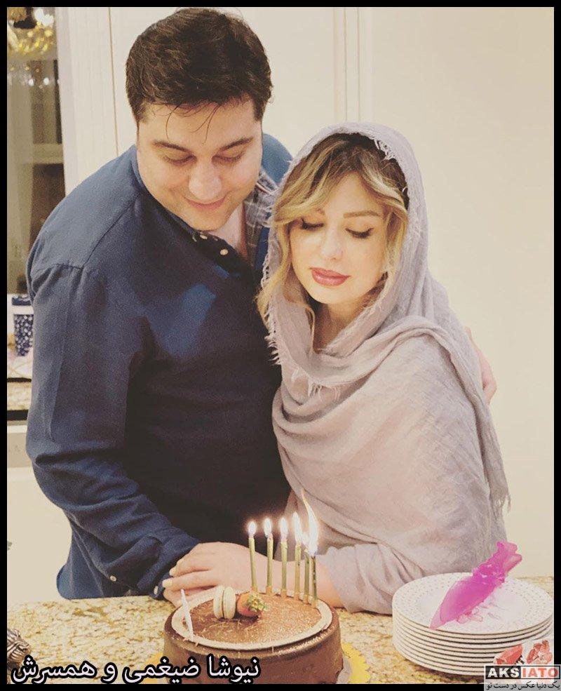 خانوادگی  نیوشا ضیغمی در جشن تولد همسرش (2 عکس)