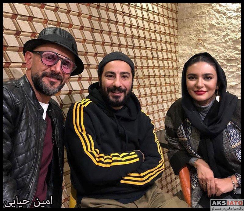 بازیگران بازیگران مرد ایرانی  امین حیایی در اکران مردمی فیلم چشم و گوش بسته (۳ عکس)