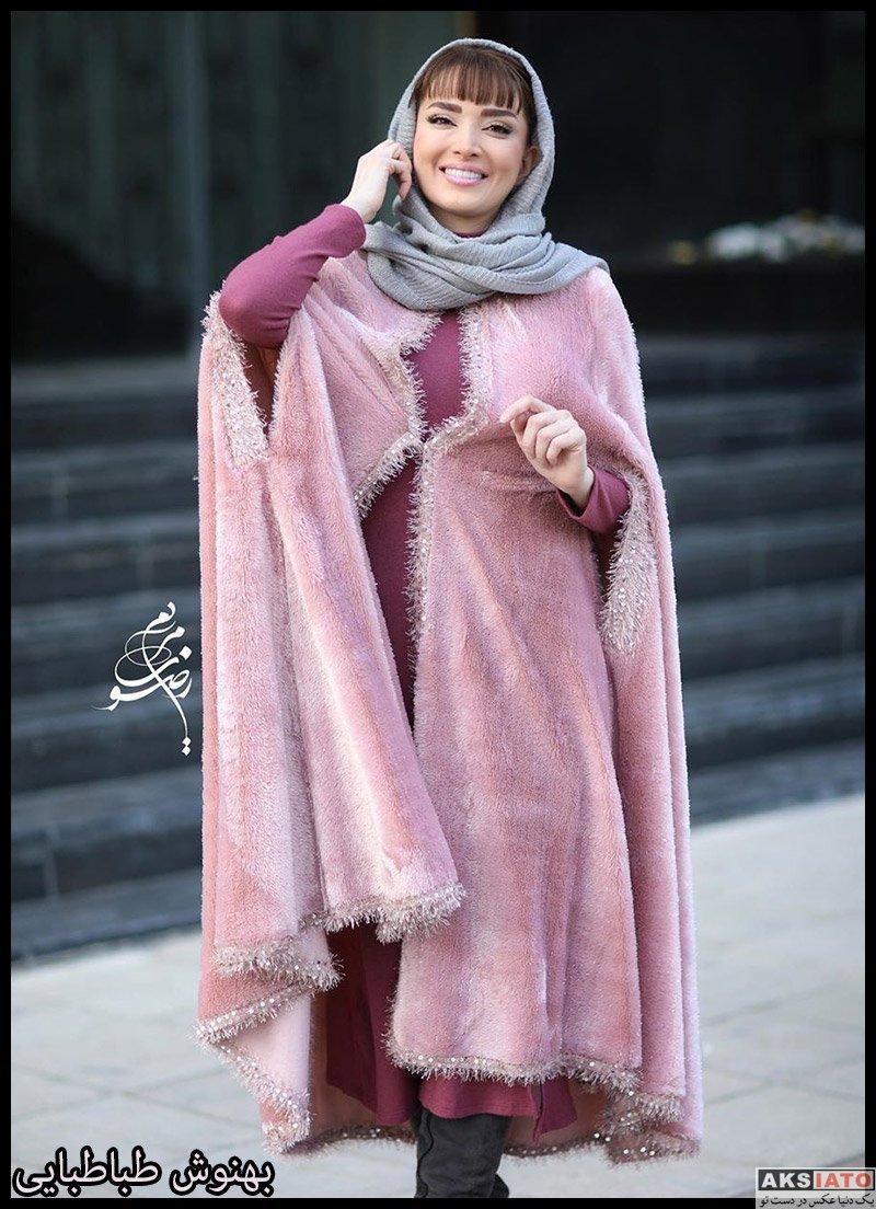 بازیگران بازیگران زن ایرانی  بهنوش طباطبایی در مراسم رونمایی از آلبوم افسانه چشمهایت (4 عکس)
