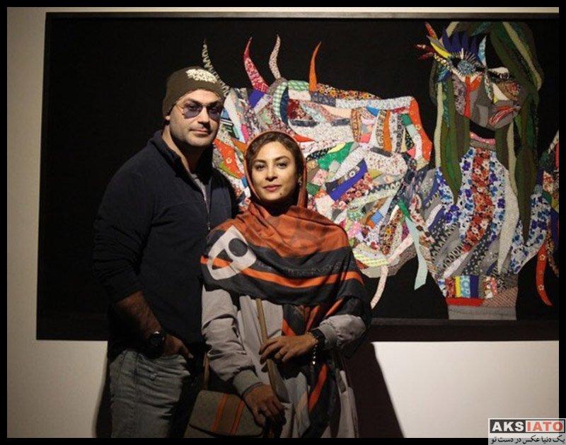 خانوادگی  حدیثه تهرانی و همسرش در نمایشگاه مهرگان شمس (3 عکس)