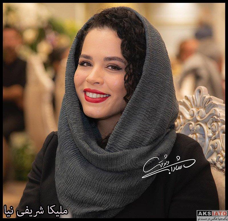 بازیگران بازیگران زن ایرانی  ملیکا شریفی نیا در آیین سپاس تهیه کنندگان سینما (4 عکس)