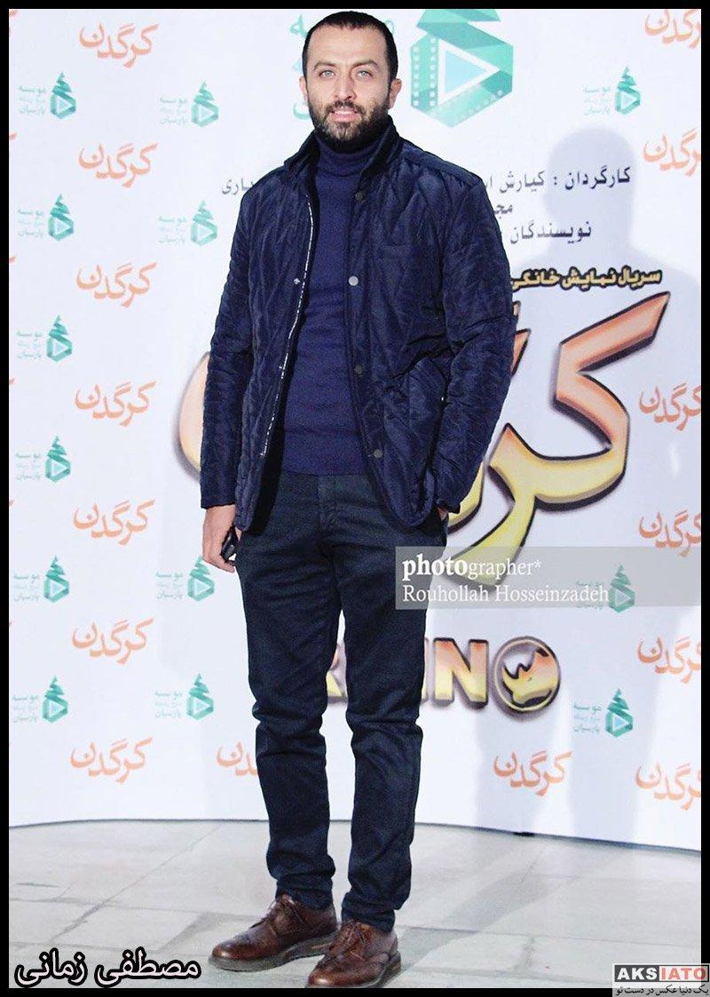 بازیگران بازیگران مرد ایرانی  مصطفی زمانی در مراسم رونمایی سریال کرگدن (۳ عکس)