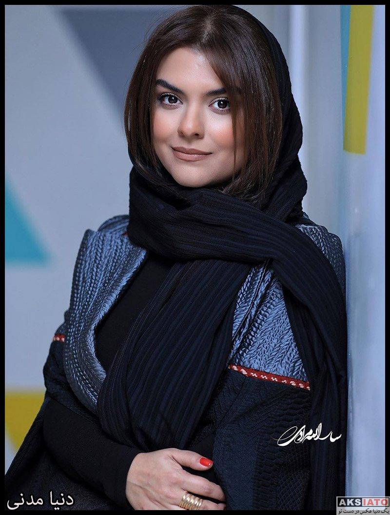 بازیگران بازیگران زن ایرانی  دنیا مدنی در اکران خصوصی فیلم خداحافظ دختر شیرازی (4 عکس)