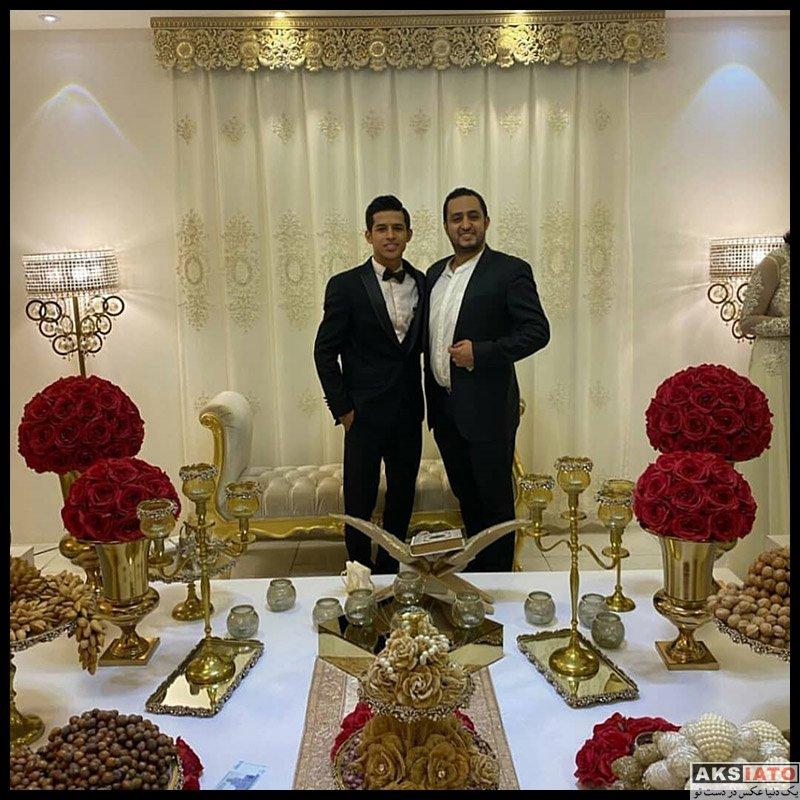 ورزشکاران مرد  مراسم عروسی مهدی قائدی (5 عکس)