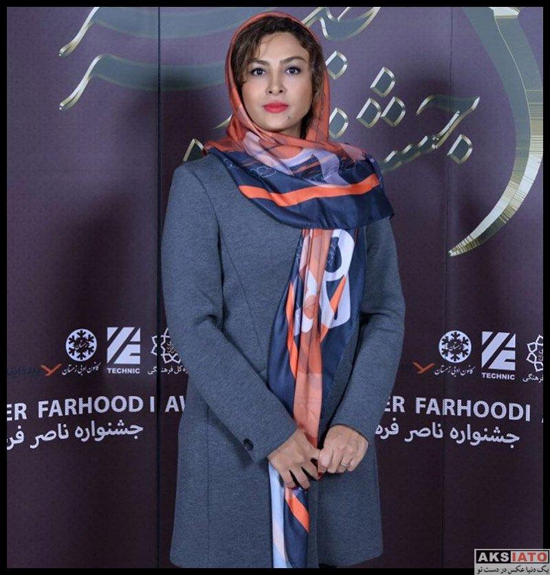 بازیگران بازیگران زن ایرانی  حدیثه تهرانی در جشنواره تخصصی صدابرداری موسيقی (3 عکس)