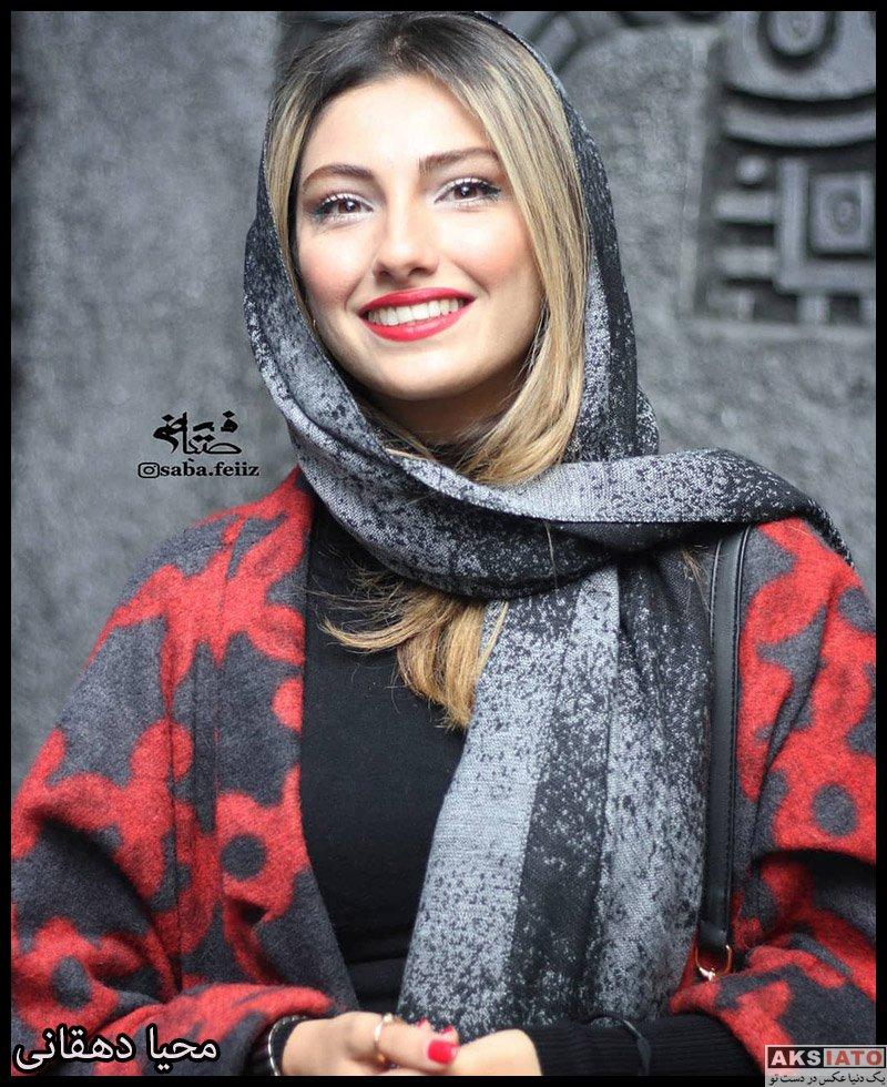 بازیگران بازیگران زن ایرانی  محیا دهقانی در اکران خصوصی فیلم لیلاج (6 عکس)