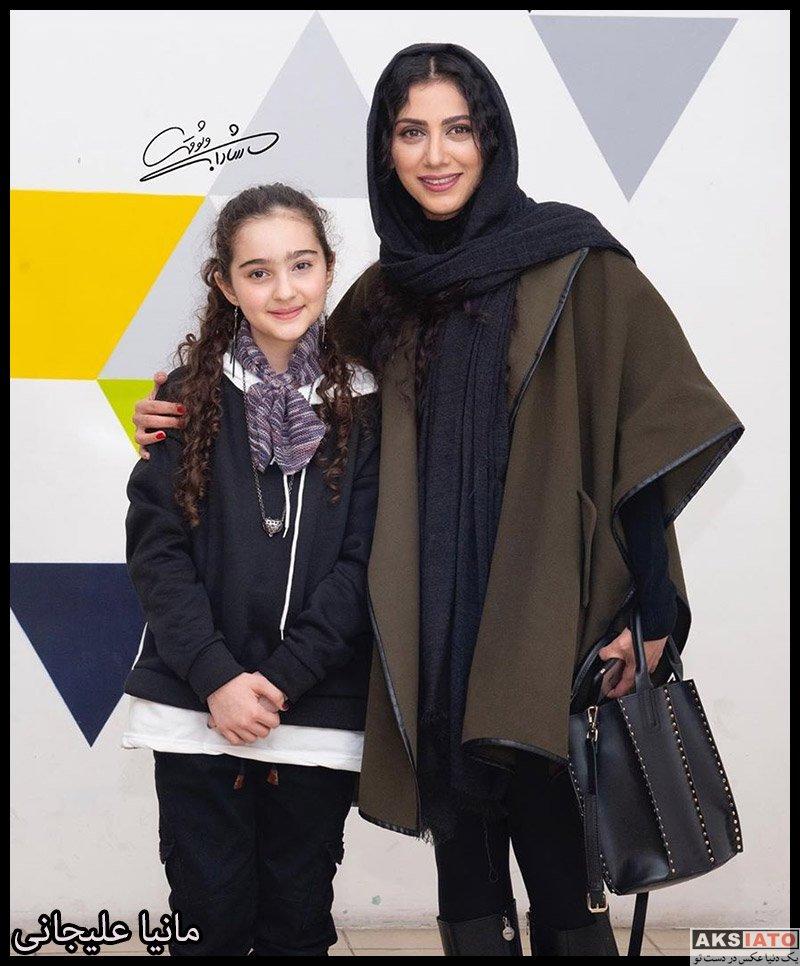 بازیگران بازیگران زن ایرانی  مانیا علیجانی در اکران خصوصی فیلم خداحافظ دختر شیرازی (2 عکس)