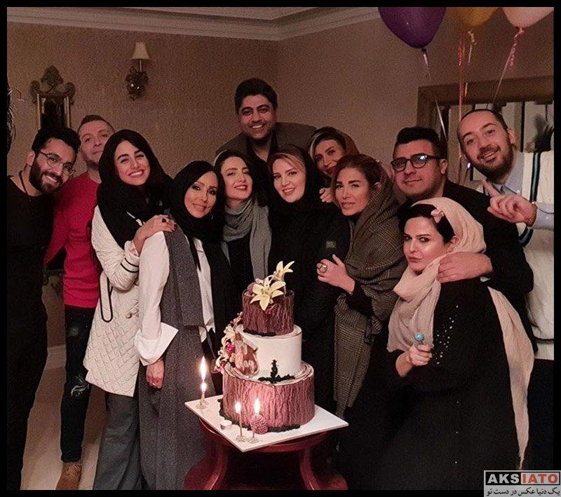 بازیگران جشن تولد ها  عکس های جشن تولد 42 سالگی پرستو صالحی