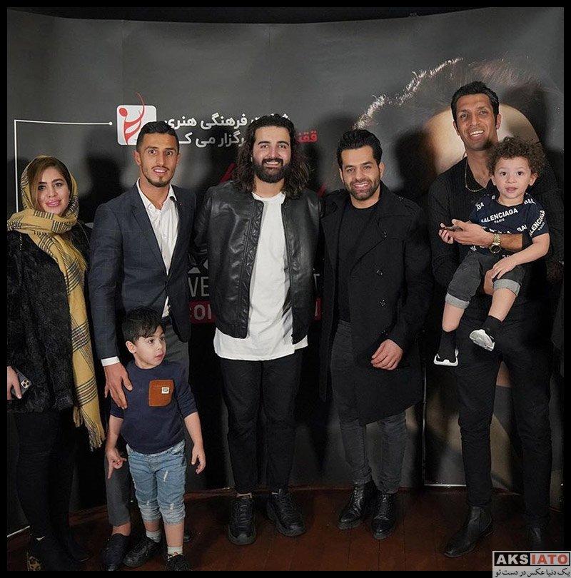 خانوادگی ورزشکاران ورزشکاران مرد  علی علیپور و همسر در کنسرت هوروش باند (2 عکس)