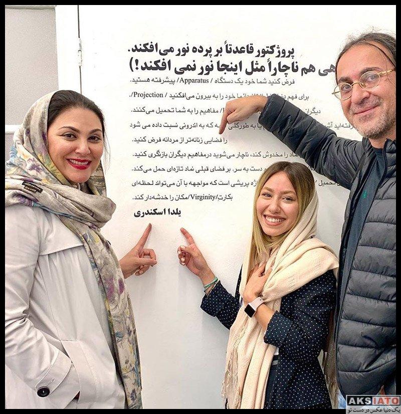 بازیگران بازیگران زن ایرانی  عکس های جدید لاله اسکندری در دی ماه 98 (10 تصویر)