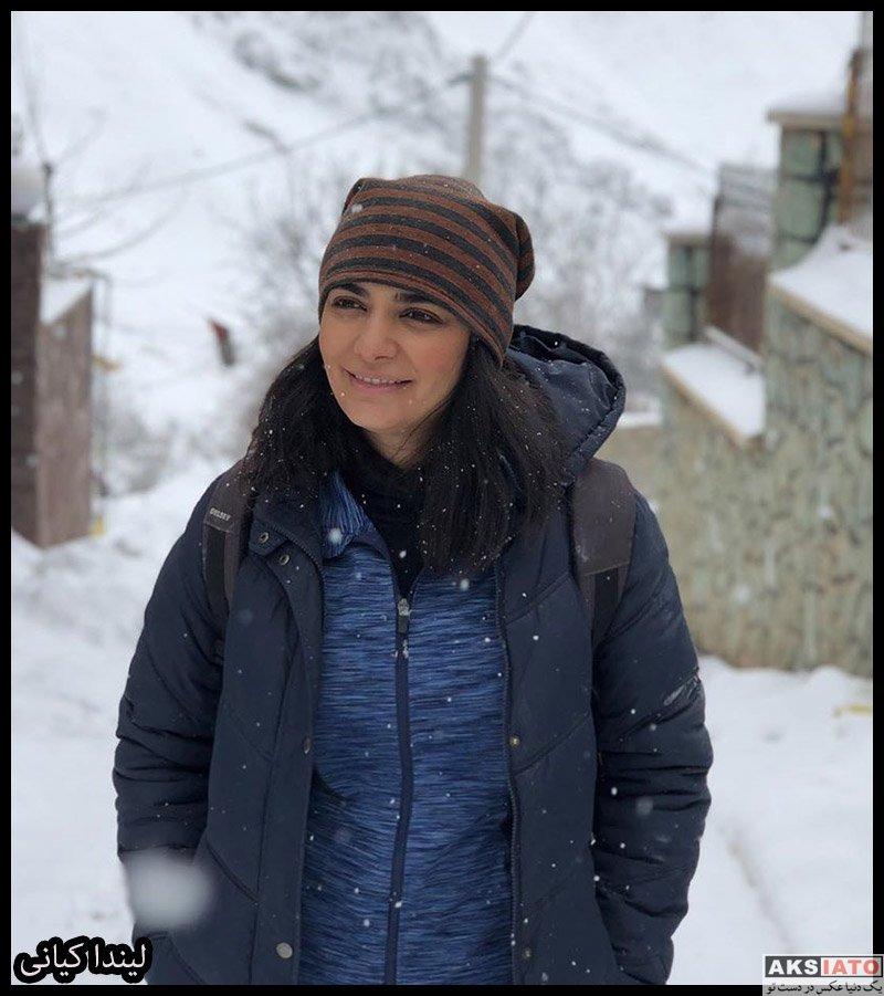 بازیگران بازیگران زن ایرانی  لیندا کیانی در روز برفی تهران در دی ماه ۹۸ (۳ عکس)