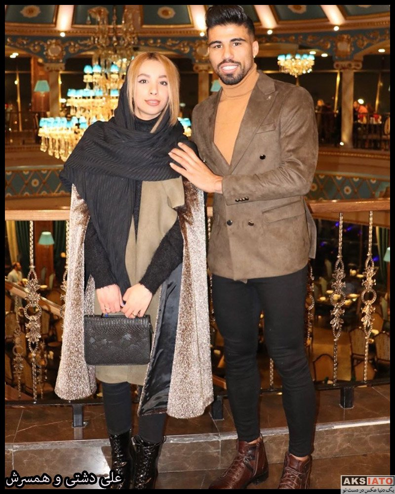 خانوادگی  علی دشتی و همسرش در شب تولدش (2 عکس)