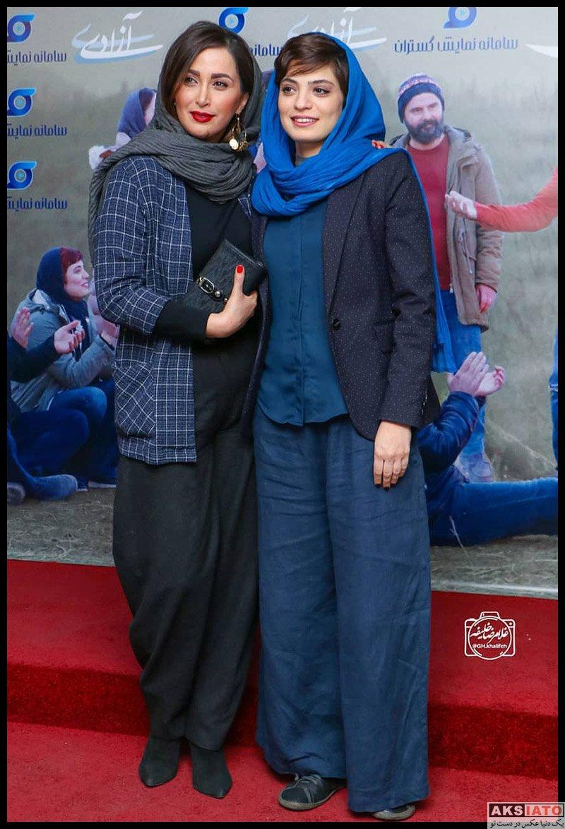 بازیگران بازیگران زن ایرانی  بهار کاتوزی در اکران مردمی فیلم جهان با من برقص (4 عکس)