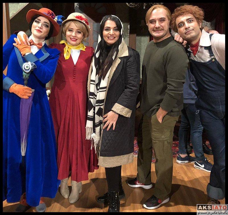 بازیگران بازیگران زن ایرانی  الهام پاوه نژاد در اجرای نمایش مری پاپینز (3 عکس)