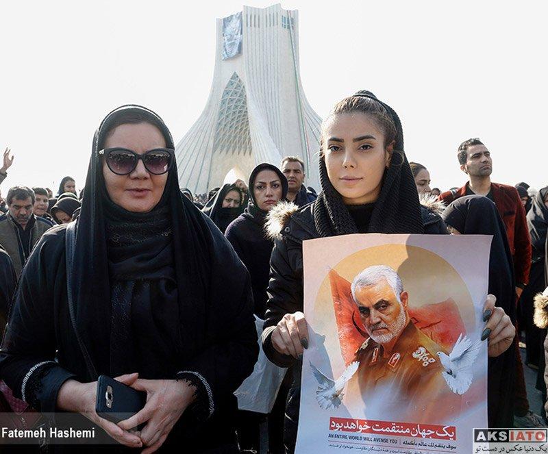 بازیگران  تصاویر دیدنی مراسم تشییع پیکر سردار قاسم سلیمانی (20 عکس)