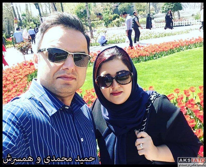 خانوادگی مجریان  حمید محمدی مجری برنامه فوتبال 120 و همسرش (4 عکس)