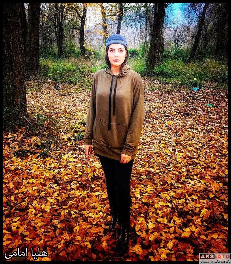 بازیگران بازیگران زن ایرانی  عکس های جدید هلیا امامی در دی ماه 98 (8 تصویر)